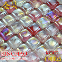 Wholesale KINGHAO FINE GLASS Mosaic Wall Tile on Mesh JH25009