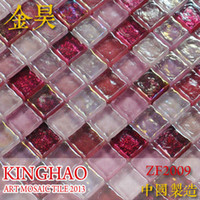 Wholesale KINGHAO Supply Mosaic Glass Mosaic Cube Colour Tile K00257
