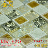 Wholesale KINGHAO Supply Mosaic Glass mosaic MIX Stone Marble Wall tile K00246
