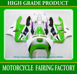 HOT sale green white black Fairing for 1994 - 1997 Kawasaki Ninja ZX6R zx-6r ZX 6R 94 - 97 RX4c