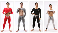 Wholesale New Colors ACEFIT Men s fashion based thermal underwear men s long Johns thin cotton sweater suits