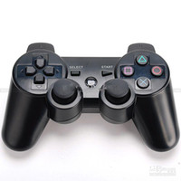 Wholesale New Duo Shock Wireless Bluetooth Game Controller Joystick for PS3 Free USB Charger Cable VGA056