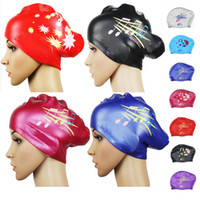 Wholesale Swimming cap silica gel swim cap waterproof ear women s hair care