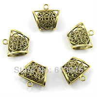 Wholesale 20PCS DIY Jewelry Findings Charm Heart Design Necklace Scarf Pendant Alloy Antique Brass Slide