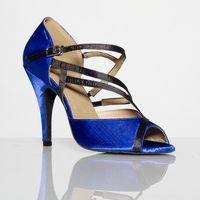 Wholesale 2016 New fashion women s high heeled Latin shoes the blue fashion models dancing shoes soft bottom ballroom