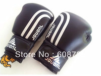 Wholesale Black Red Breathable Sanda Boxing Gloves PU leather Training Fitness Sandbag Gloves Freeshipping Dro