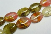 Wholesale 13x18mm Watermelon Tourmaline Gem Oval Loose Beads quot