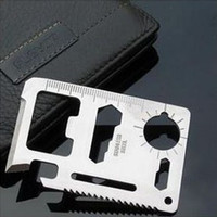 Cheap Stainless Multifunctional Card Uiversal Cmping Tool Card Knife Bottle Opener Saw 30g