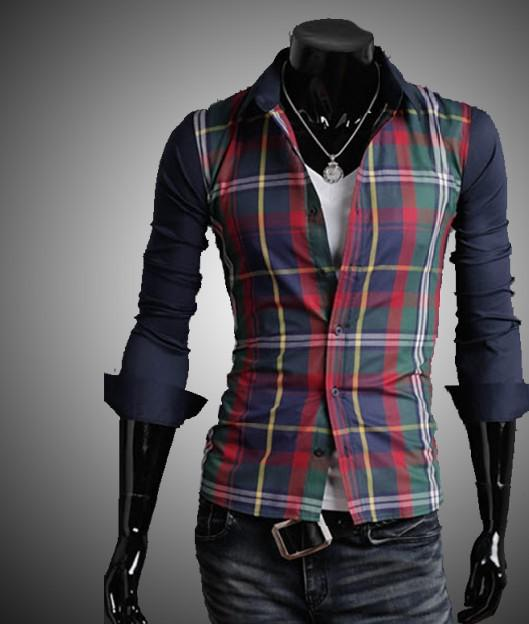 2017 hot styel mens shirts long sleeve casual slim fit for Cheap slim fit shirts