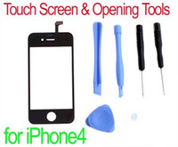 Wholesale Black Replacement LCD Touch Screen amp Opening Tools for iPhone Drop Shipping Wholesal