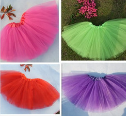 Wholesale Hot Selling Tutu Dance Kids Child Baby Girl Party Skirt Ballet Chiffon Dress Pettiskirt New