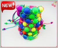 Bohemian acryl beads - New Arrival Fluorescence Beads Bracelets Candy Color Acryl Bead Hand Made Charm Bracelets