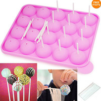 Wholesale Hot Selling Silicone Cake Stick Pops Mould Cupcake Baking Tray Pop Mold Party Kitchen Tools