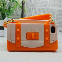 Wholesale Cliche Handbag Silicone Case Soft Back Cover Case for Apple iPhone S