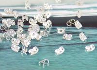 300PCS Silver plate butterfly earring backs stopper #19982