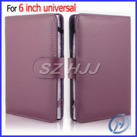 Wholesale Tablet Case Inch Universal Folio Leather Flip Cover for Kinle Kindle Touch