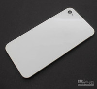Wholesale Back Glass Battery Housing Door Cover Replacement Part Black White GSM CDMA for iphone S