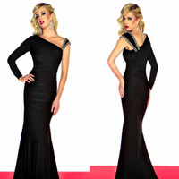 Wholesale Black Trumpet Mermaid Lady formal Evening Gown Prom Dress Spandex Fabric Customize