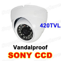Wholesale Promotion SONY CCD TVL Vandalproof CCTV IR Day amp Night Metal Dome Camera Security