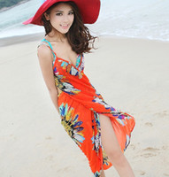 Wholesale New Sexy Women Sarong Open Back Wrap Front Swimsuits Bikini Cover Up Beach Skirt Dress