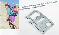 Wholesale Multipurpose Camping Lifesaving Saber Card Ultrathin Camping Survival Tool amp Knives Card