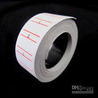 Wholesale 20 Rolls set Price Label Paper Tag Tagging Pricing For MX Labeller Gun White roll se