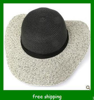 Black  beach  Twill 2013 hot selling for straw hat , beach hat, lady straw beach hat .fashion lady hat