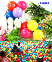 Wholesale 100pcs Colorful CM plastic Tent Water Pool Ocean Wave Ball