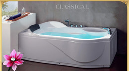 Wholesale 1700x880x680mm Fiberglass Composites Whirlpool Bathtub CE Approval Rectangular Left or Right Skirt And Head Rest Indoor Spa WD6429