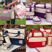 Wholesale 5pcs Multi Function Baby Diaper bags Super Large Carrier Tote Shoulder pvc Bag drop shipping