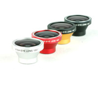 Wholesale 180 Degree Fish Eye Lens Fisheye Lens Fisheye Detachable for Cellphone iPhone S G Camera