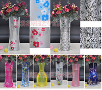 Wholesale 20pcs Creative Folding Magic PVC Vase Household Plastic Vase Portable Flower Pot