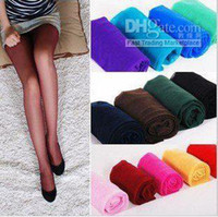 Skinny,Slim Yes Tight Free Shipping Women's Fahion Sexy Candy Color Shiny Tights Silk Stocking Pantyhose Hot sale #2013