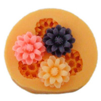 Wholesale F0025 silicone cake decorations rose buttons mold moulds fondant cake tools Diy silicone molds