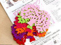 Felt doilies - Handmade Ecru Cup Coaster mat pad Doily With Different Colors