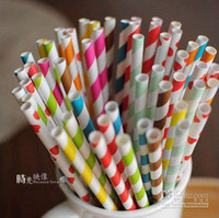 Wholesale colorful drinking paper straw strip drink paper straws