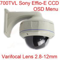 Wholesale 700TVL CCTV SONY EFFIO E CCD Surveillance Vandalproof IR Dome Camera mm Lens With OSD