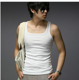 Wholesale 5 pieces for man tank top Summer fashion Men s sleeveness leisure slim fit vest