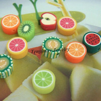 Wholesale Polymer Clay Slice mm Cute Fruite Shape For DIY