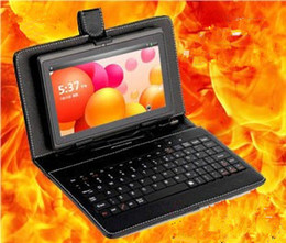 """7"""" Allwinner A13 Q88 Tablet PC Android 4.0 4GB Multi Touch Webcam Wifi Camera+ Keyboard Leather Case"""