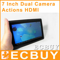 Wholesale 7 inch Android Tablet PC Actions A13 Dual Cam HDMI GHz MB GB Q8