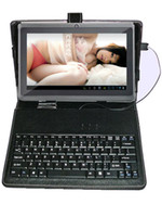 Wholesale 7 quot Allwinner A13 Q88 Tablet PC Android GB Two Camera Webcam Wifi Keyboard Leather Case
