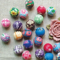 Wholesale 14mm Polymer Clay Beads Wholesle Mixed Color Fashion Clay Jewelry Accessory