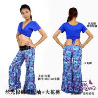 Cheap The new tribal style belly dance clothing belly dancing costumes women wear practice pants+top flow