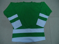 Wholesale 2013 New Hockey Jerseys NJ Jersey Blank No Naem No Number size Green Color Mix Order Stitched