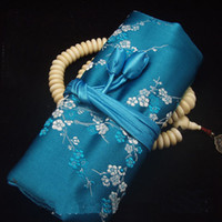 Jewelry Pouches,Bags jewelry roll bag - Chinese Roll Bags Jewelry Travel Cases Silk Zipper Rope Pouch Mix color Free