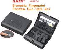 Wholesale Micro Vault Bio MS500 Biometric Fingerprint Pistol handgun travel safe box