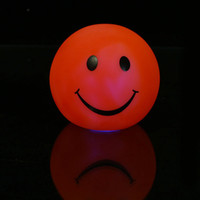 Wholesale high quality colorful smile face LED lamp christmas tree ornament wedding room accessories present