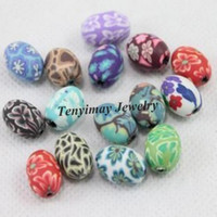 Wholesale Polymer Clay Beads x15mm Oval Shae Clay Beads For DIY