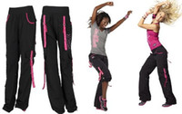 Wholesale fitness clothes yoga pants women dance pants Cargo Pants party pink